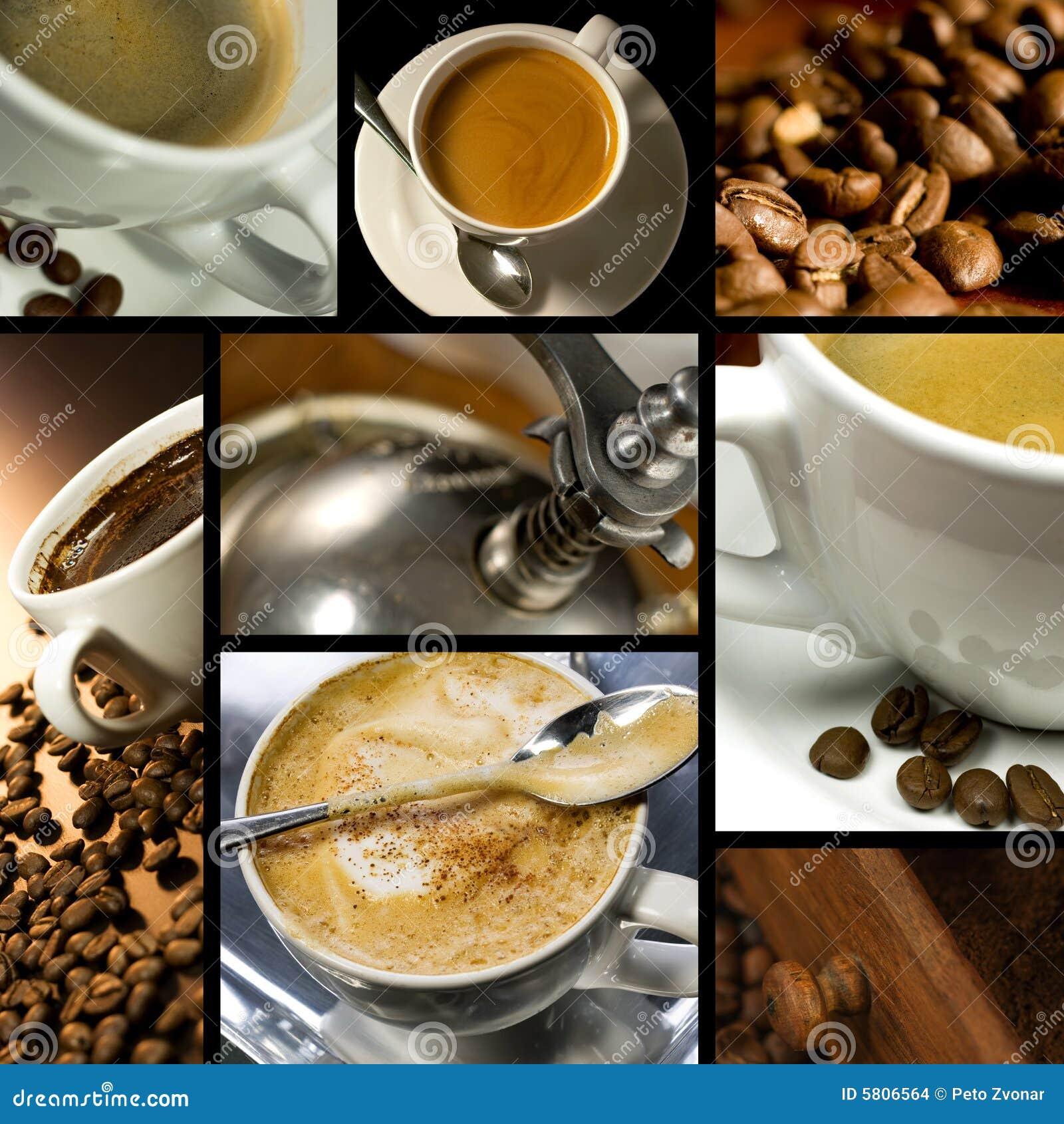Collage orienté de café