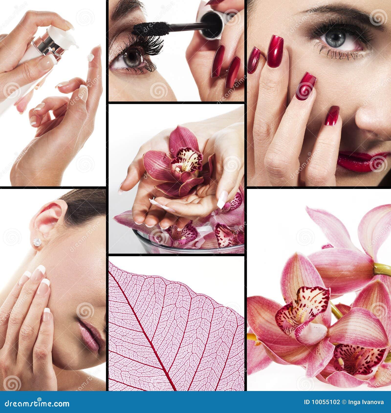 Collage per industria di bellezza e di sanità