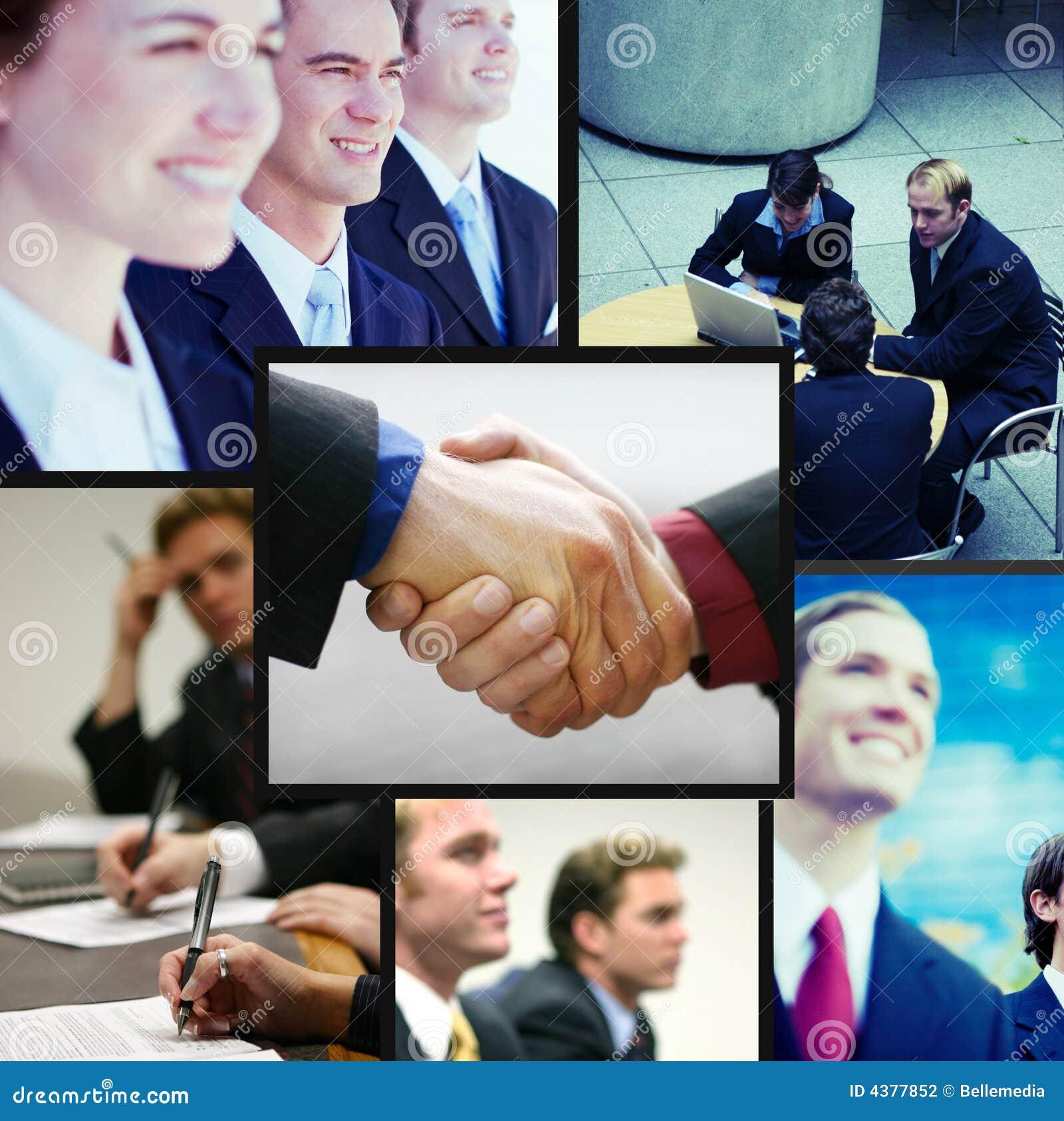 Collage positif d affaires