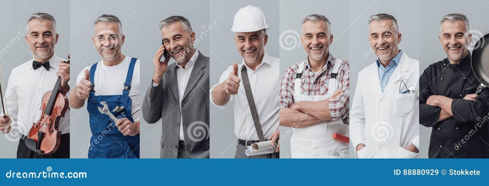 Collage professionnel de travailleurs