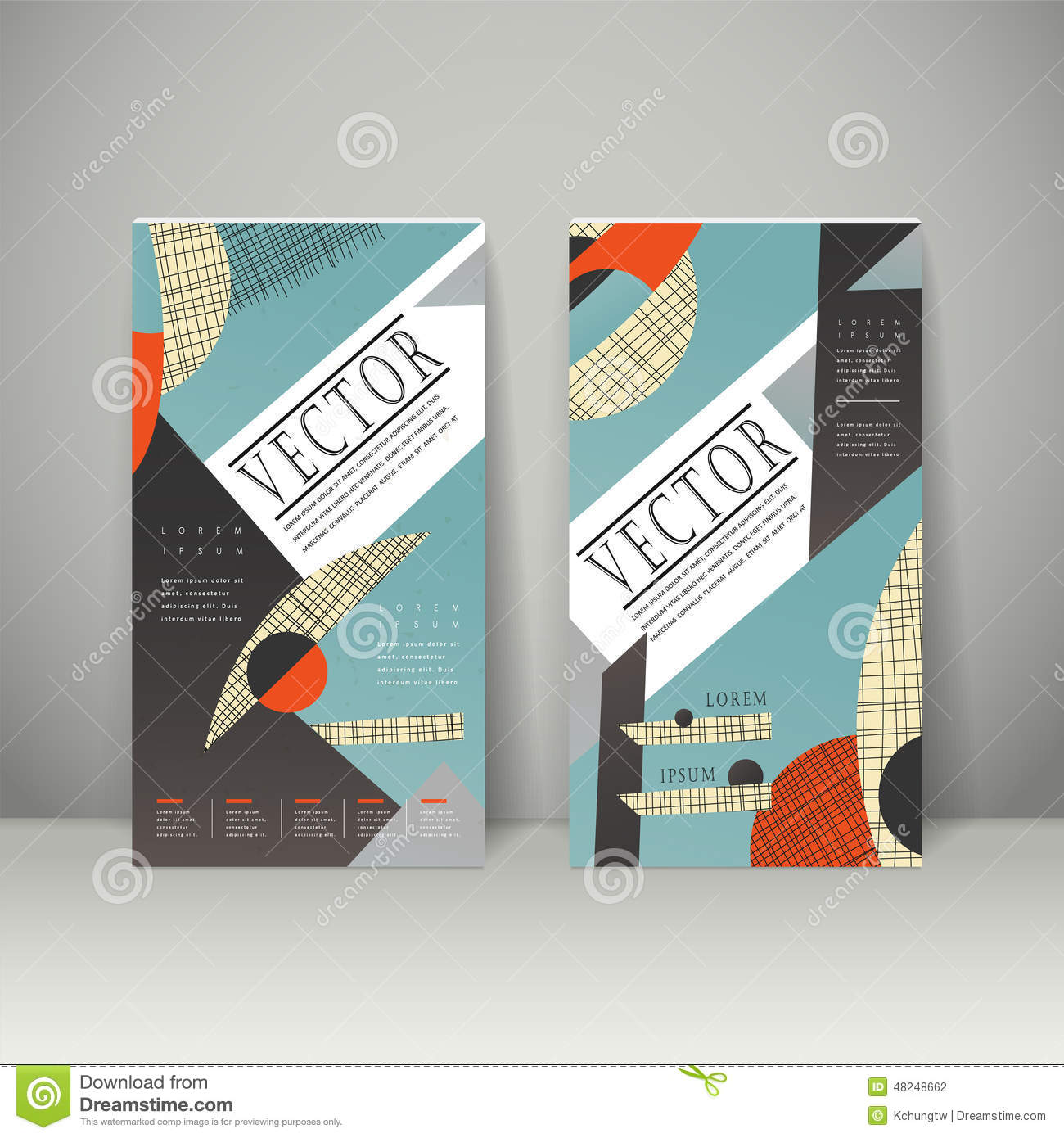 Collage Style Banner Template Design Stock Vector - Image: 48248662