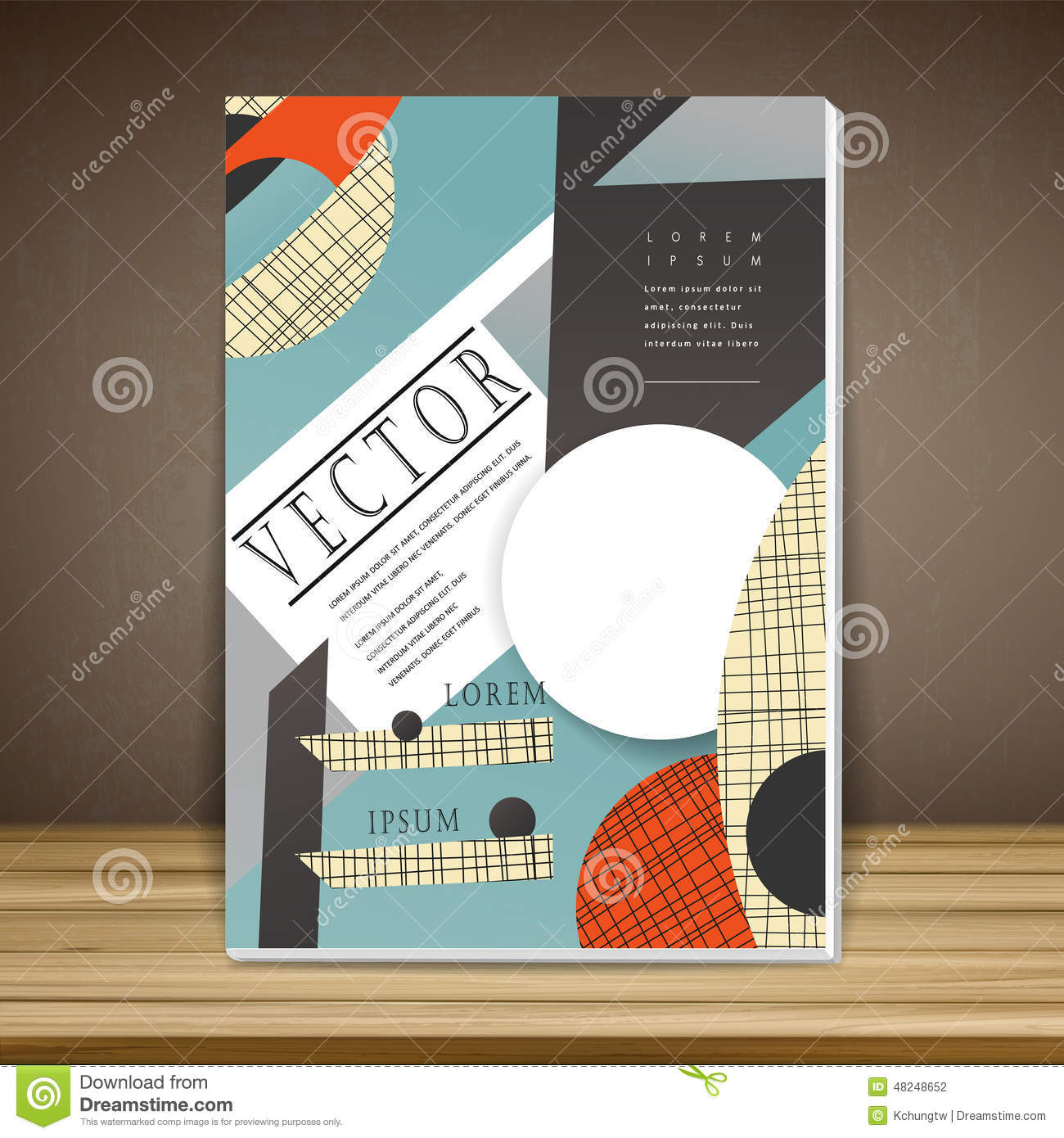 Collage Style Book Cover ~ Collage style book cover stock vector image of marketing