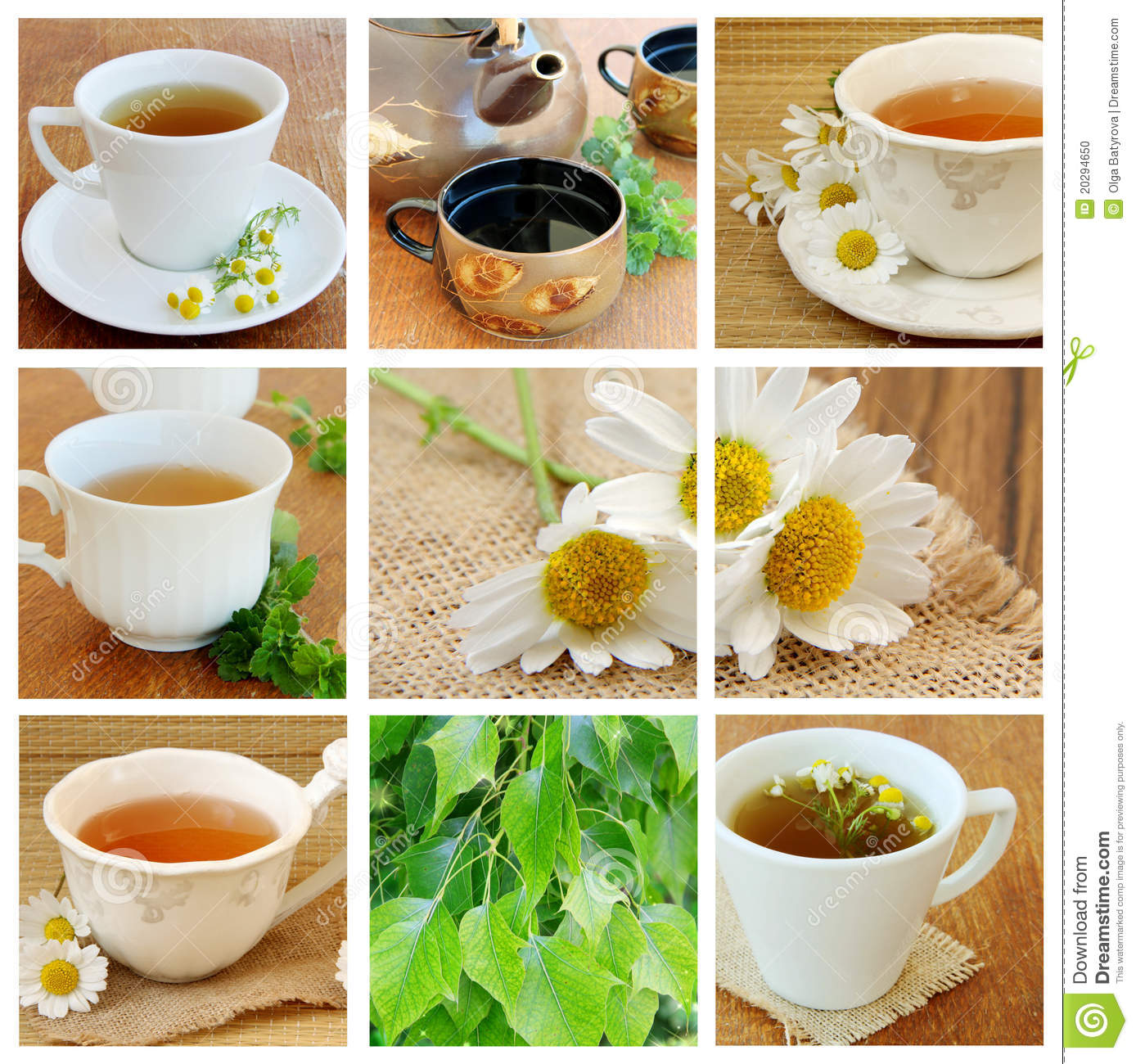 Collage with Tea