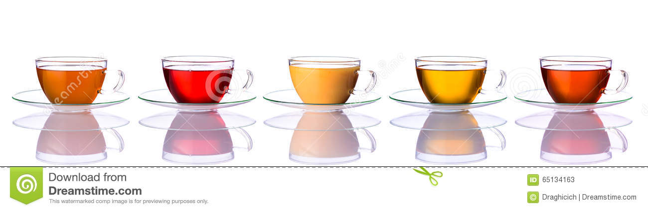 Cups Different Types Tea Stock Images 48 Photos