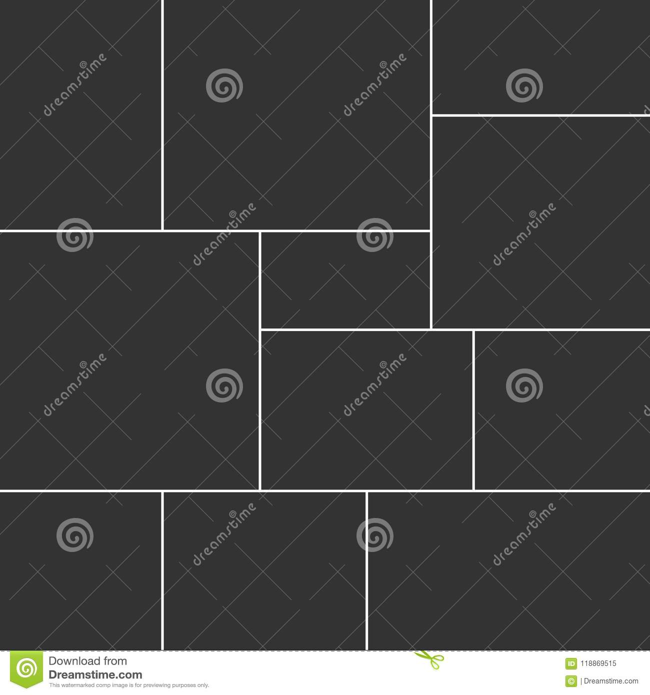 Collagetemplate Collage Frame For Photo Stock Vector