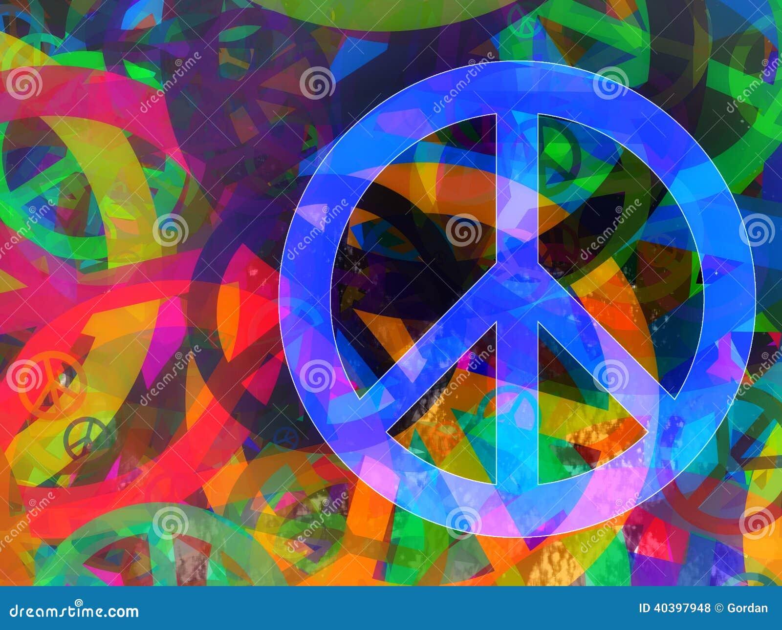 Collage texturisé abstrait - fond de paix