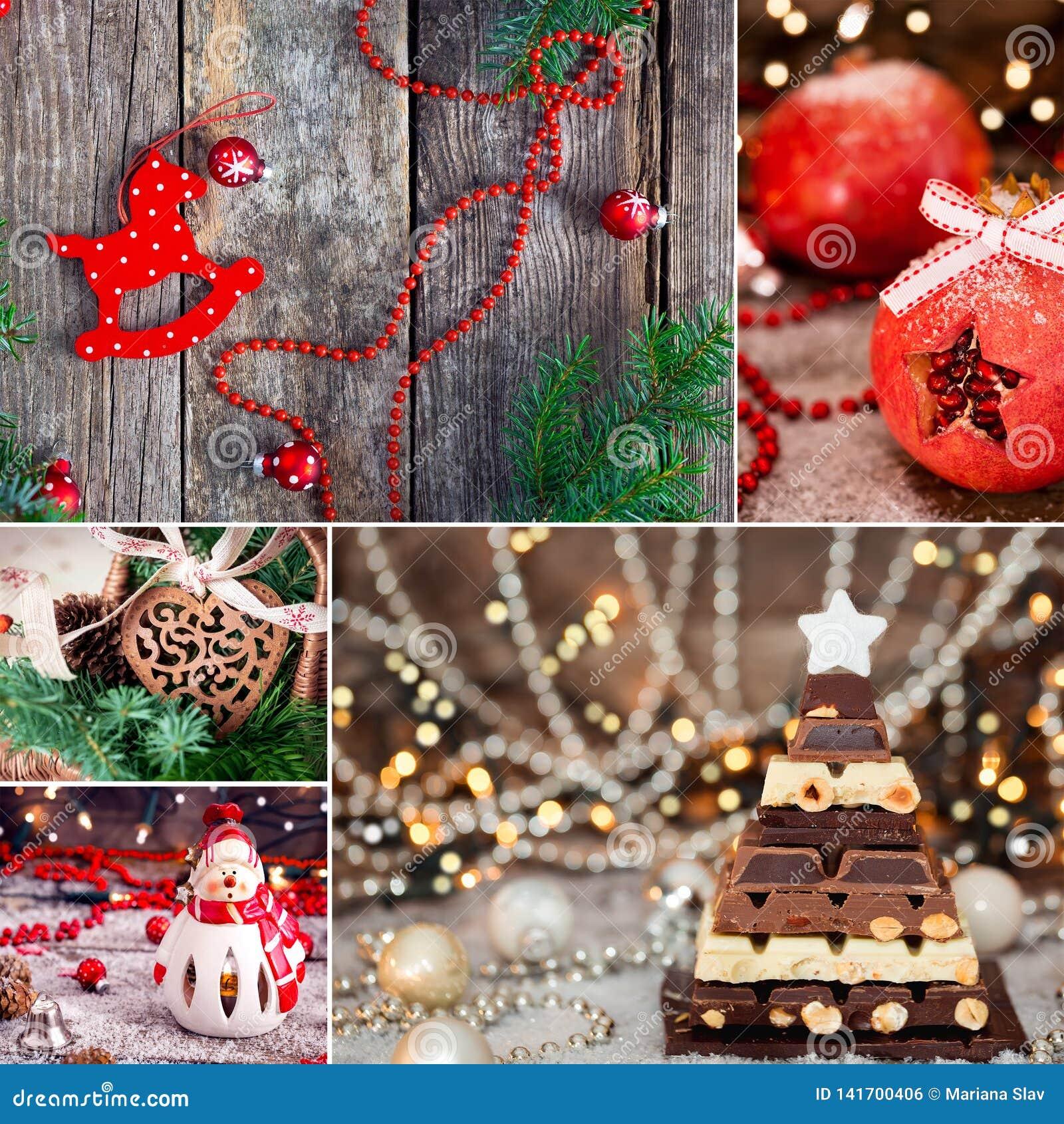 Collage thématique de Noël