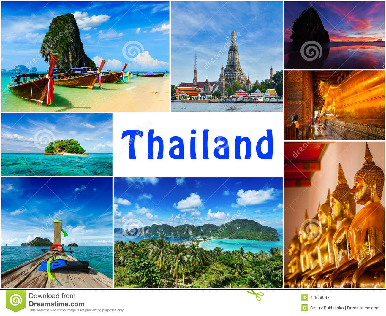 Download Collage Of Thailand Images Stock Image Religion