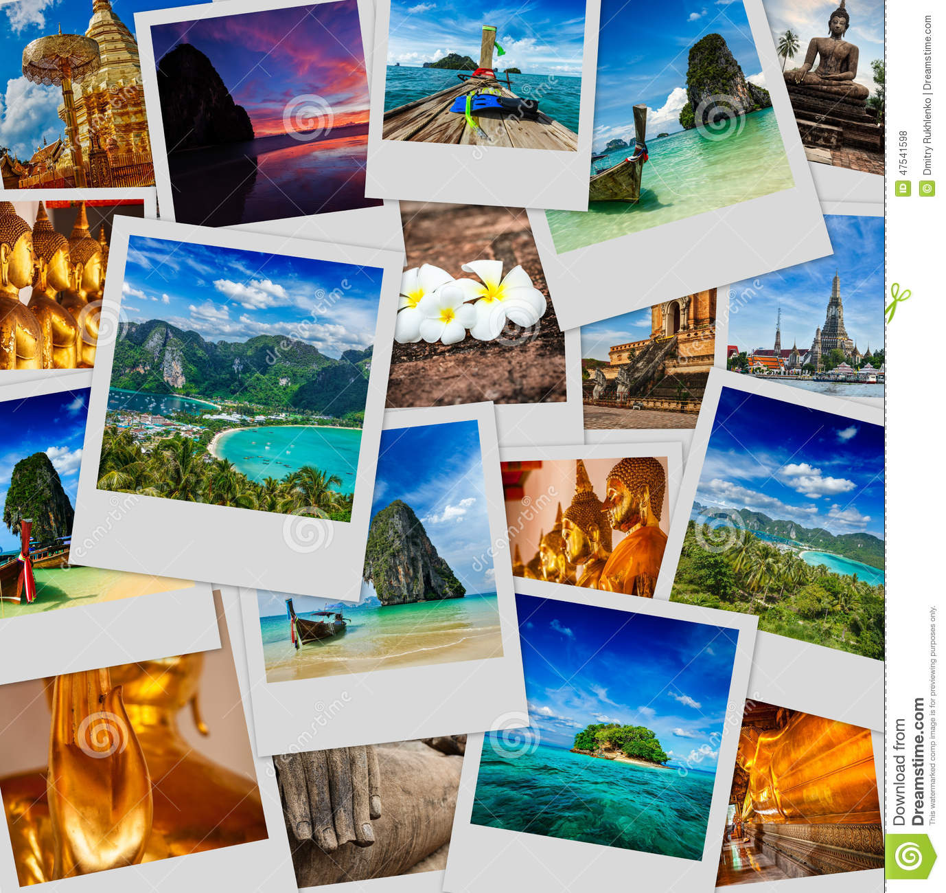 Collage of thailand images stock photo image of buddhism - Collage de fotos para dormitorios ...