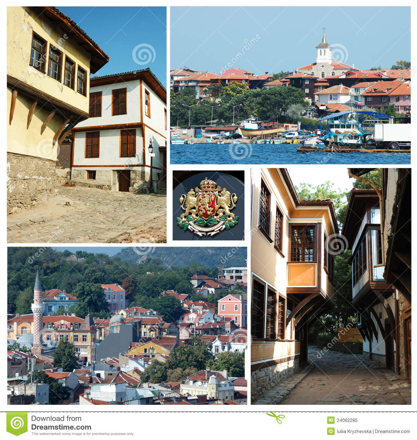 Collage van Bulgaarse oriëntatiepunten