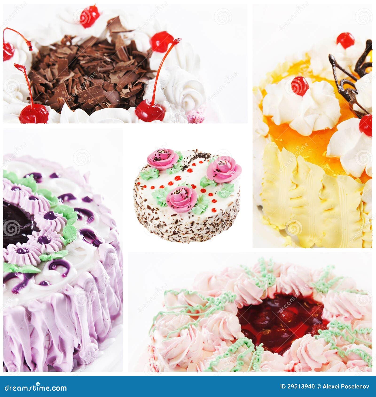 Collage van diverse cakes