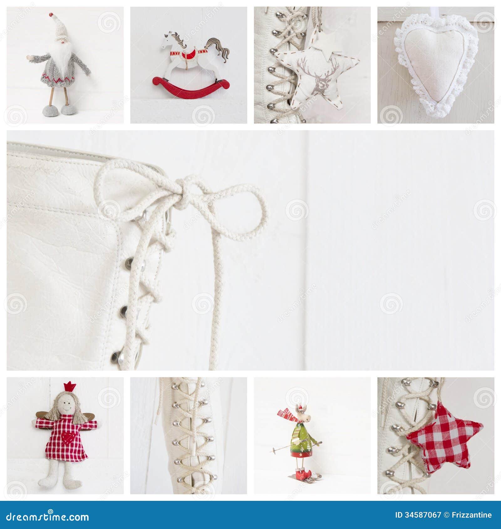 Collage van verschillende foto 39 s voor kerstmis idee voor decoratie royalty vrije stock - Idee decoratie ...