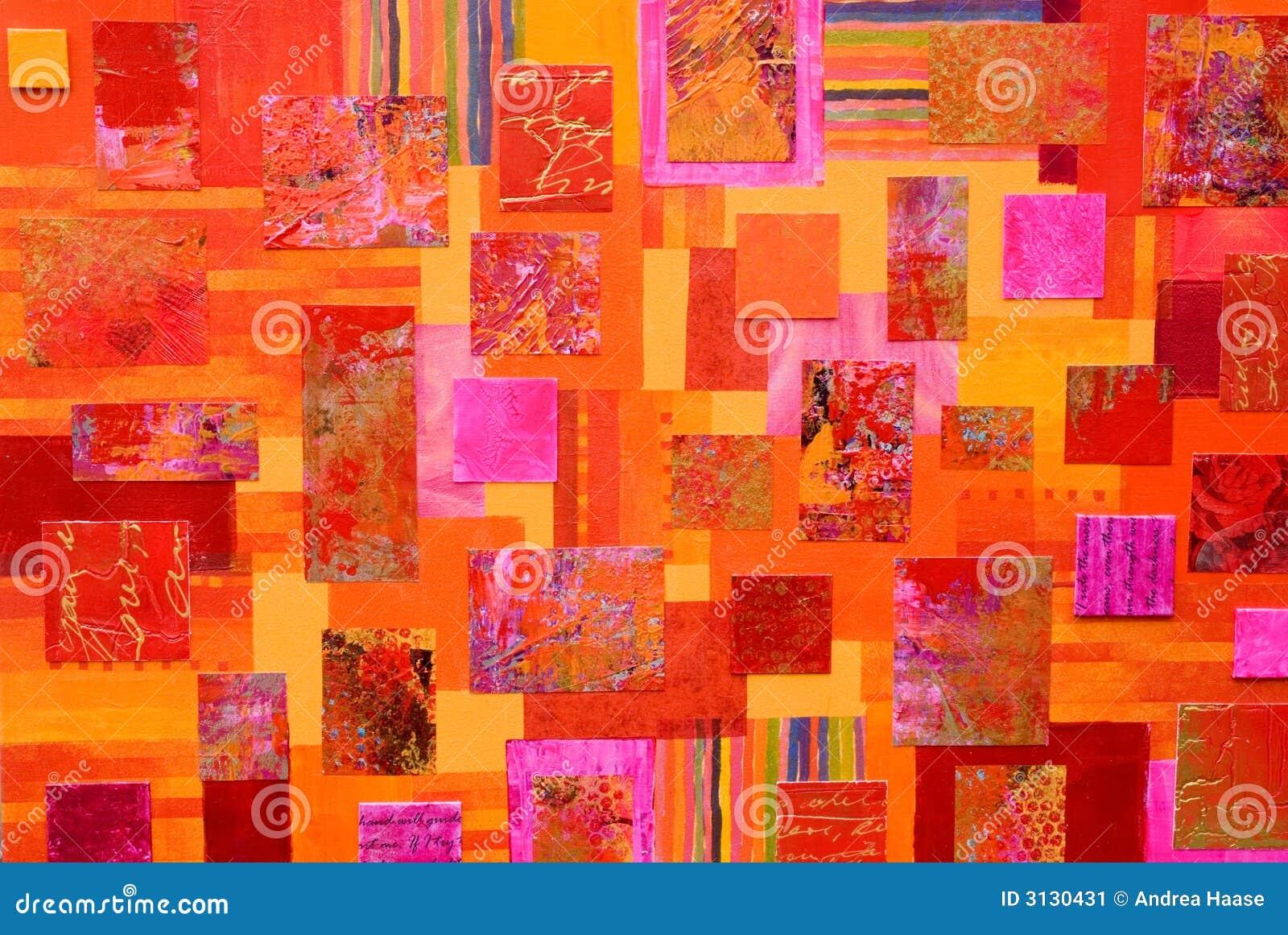 Collage variopinto di arte