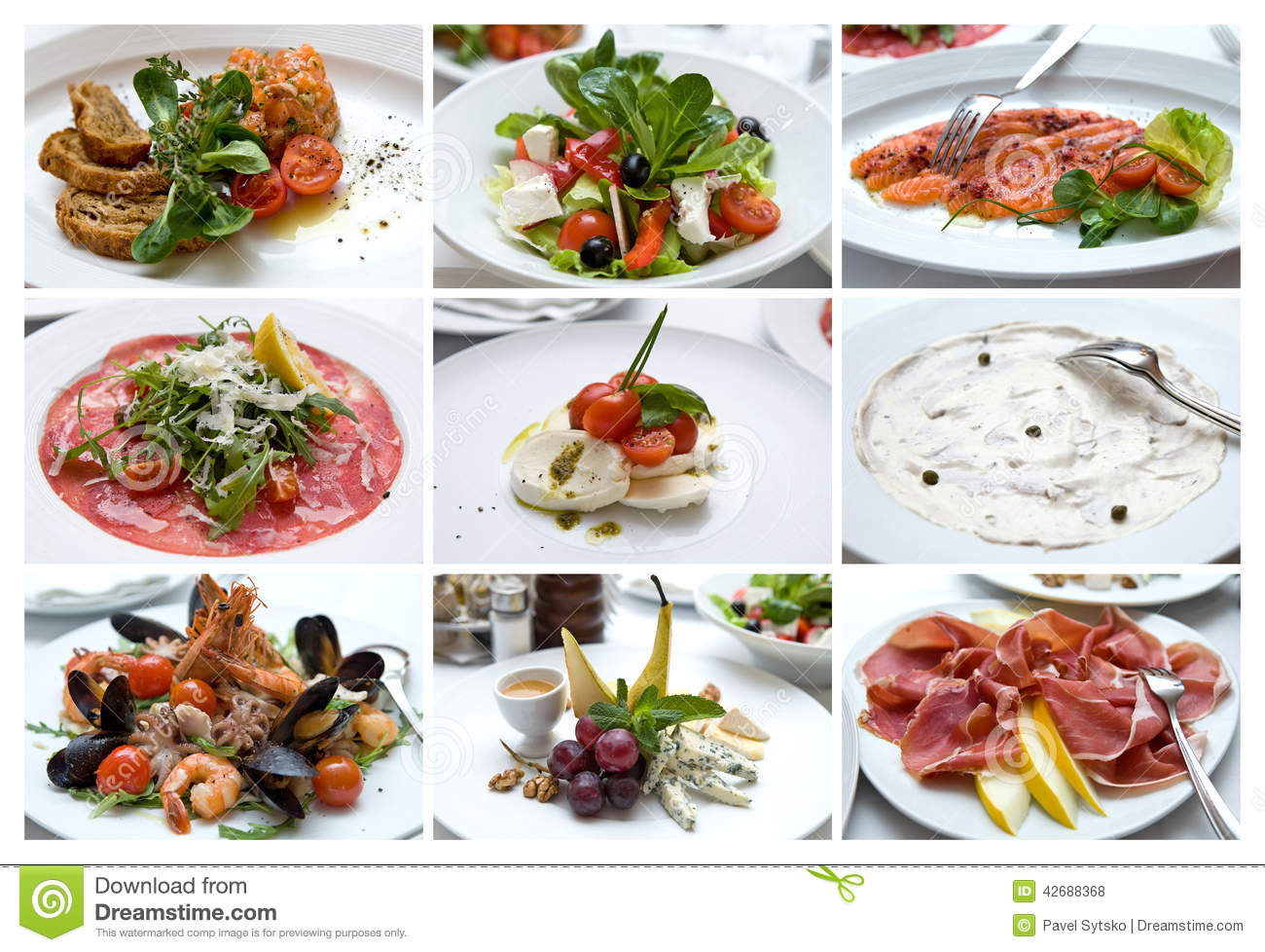 Collage of various italian dishes italian cuisine snacks for Austrian cuisine history
