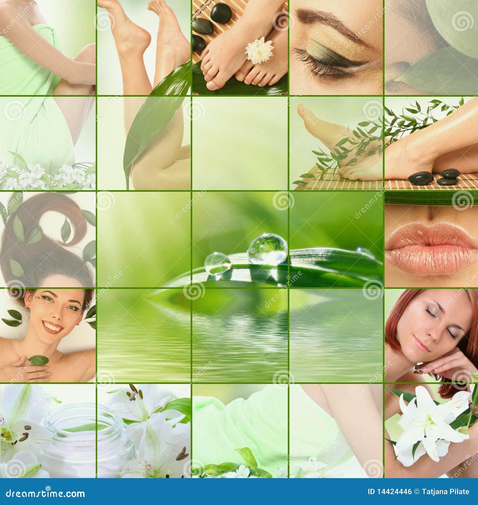 Collage verde