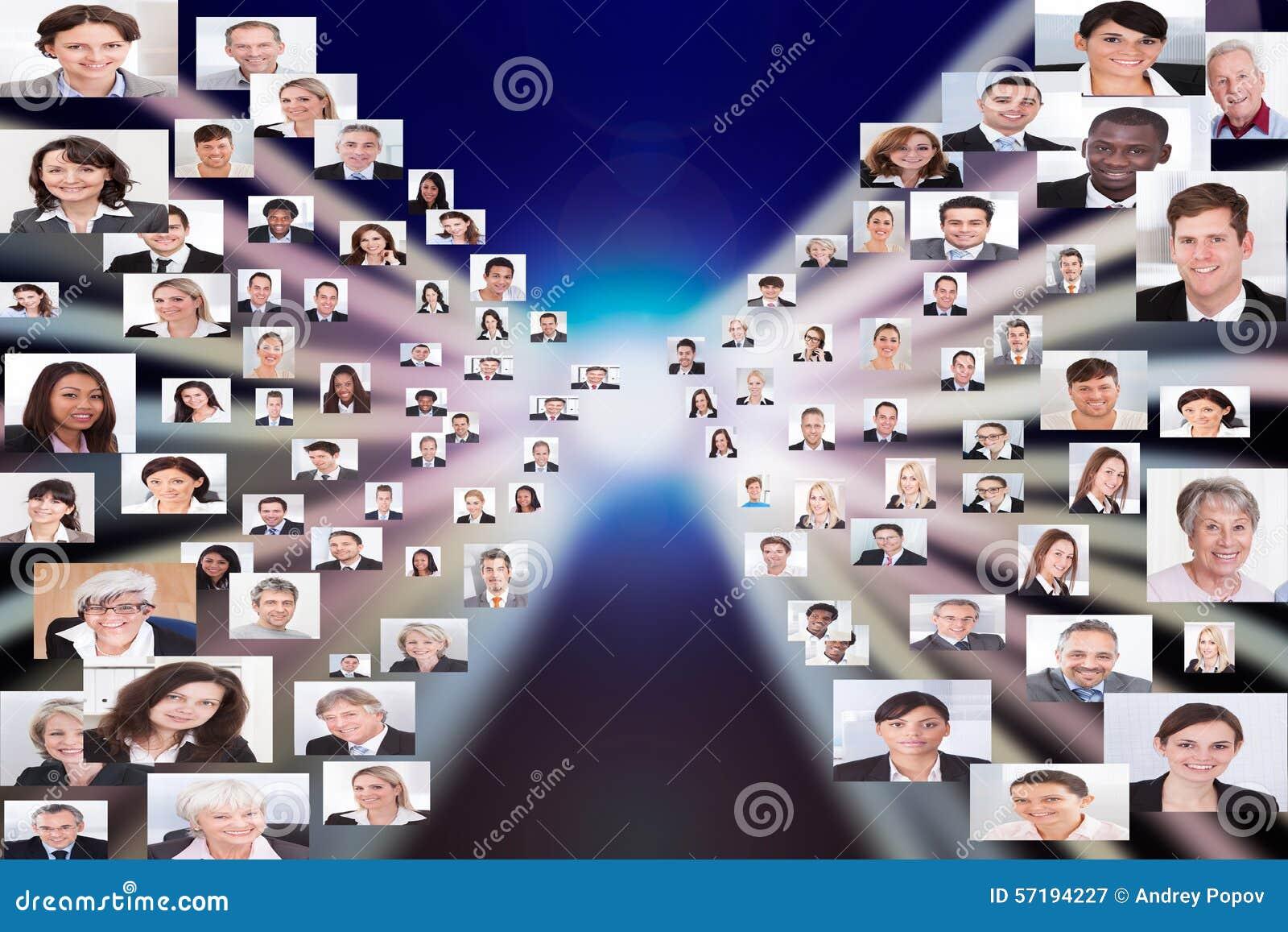 Collage von Geschäftsleuten