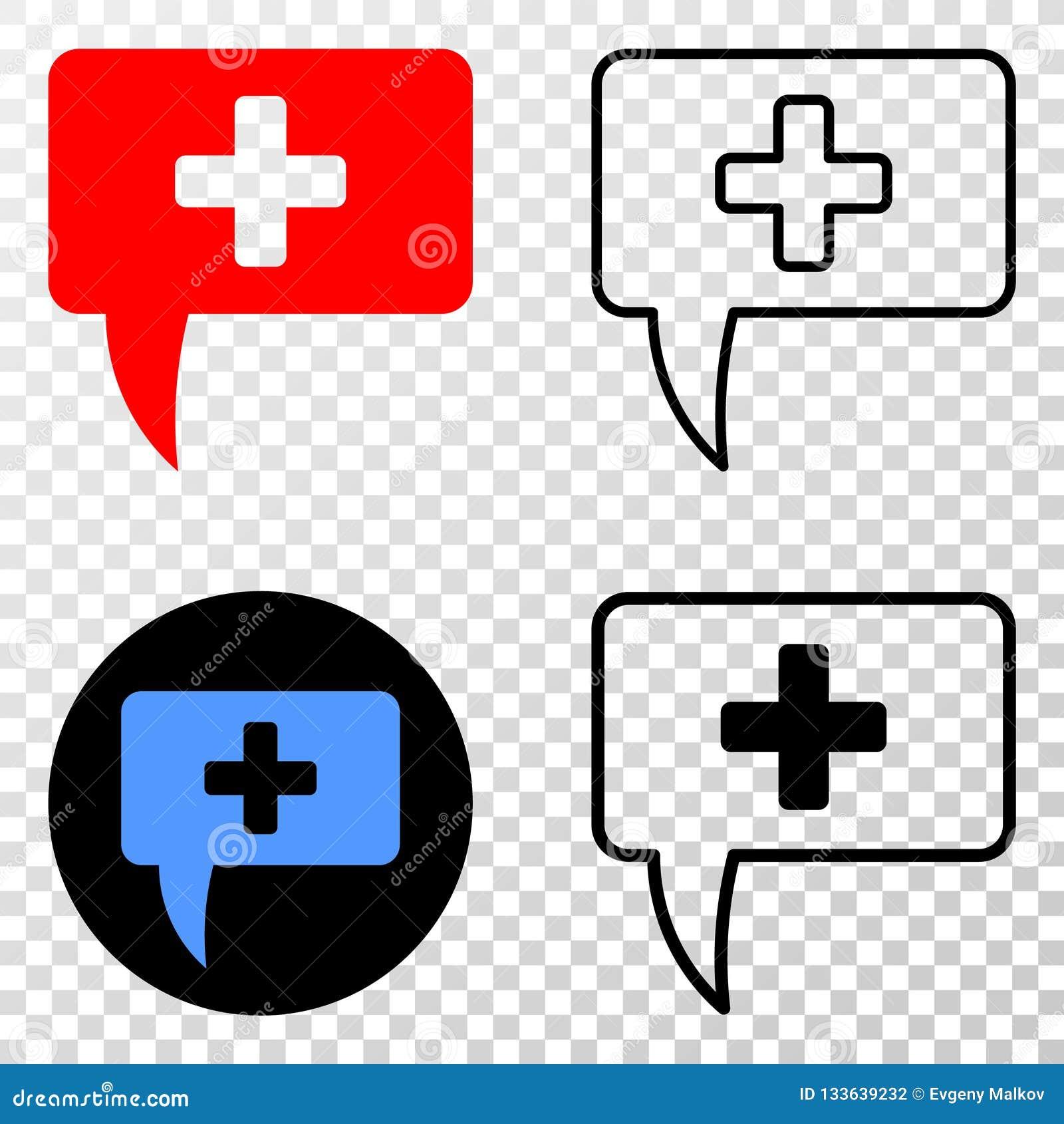 Collage von Gradiented punktierte medizinische Mitteilungs-Andeutung und Grunged-Stempel