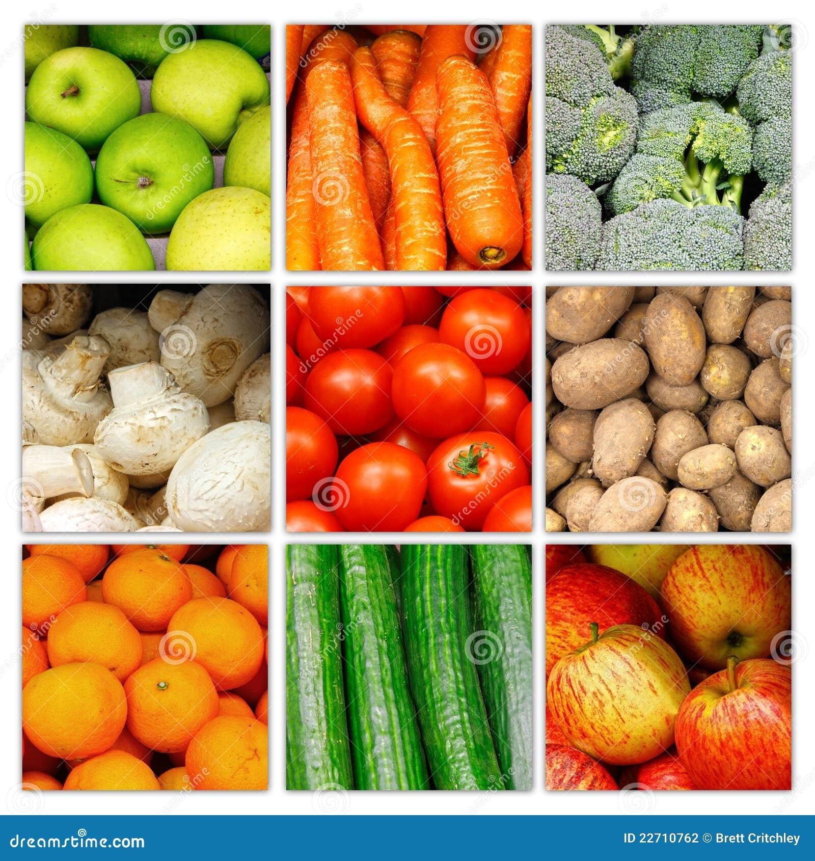 Collagefruktgrönsak
