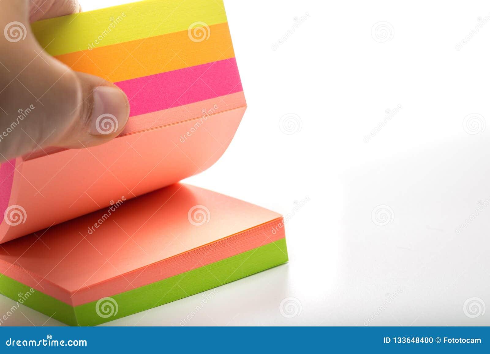 Collants Autocollants multicolores sur un blanc