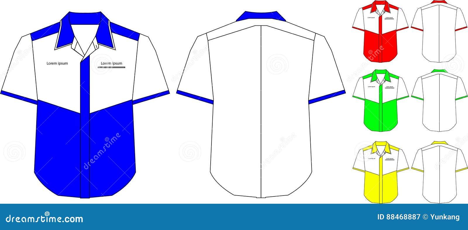 Collar Shirt Design Template