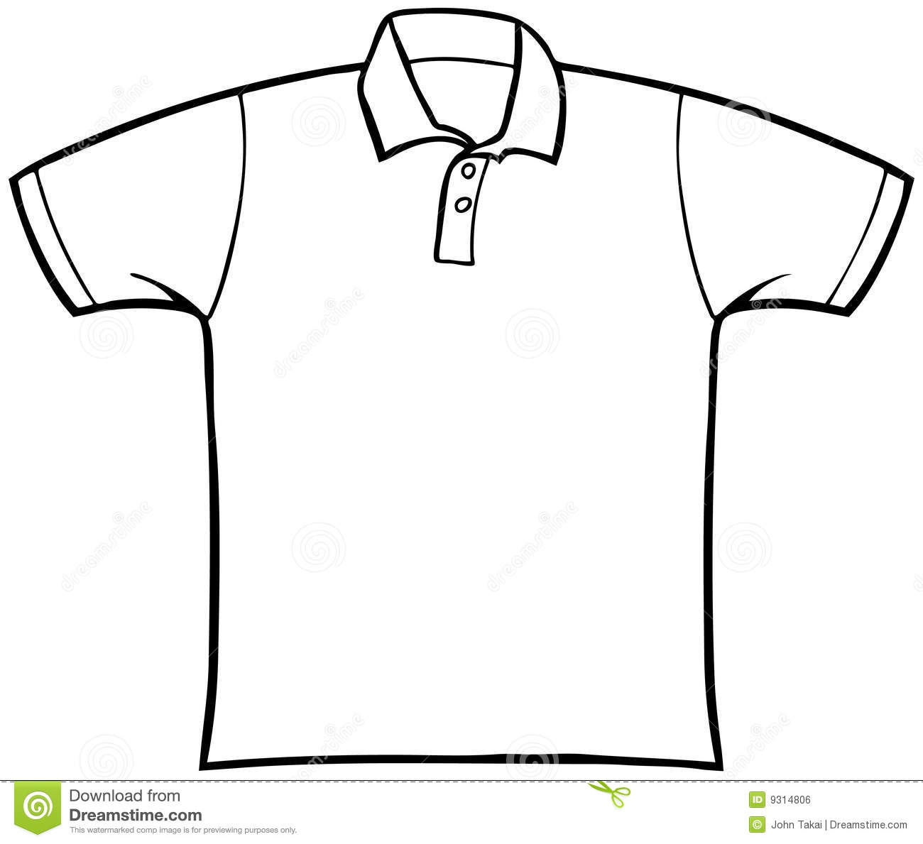 T Shirt Design Line Art : Collared t shirt stock vector illustration of clothing