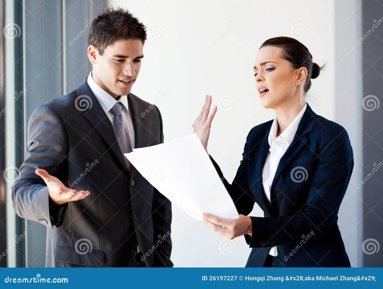 Colleagues arguing