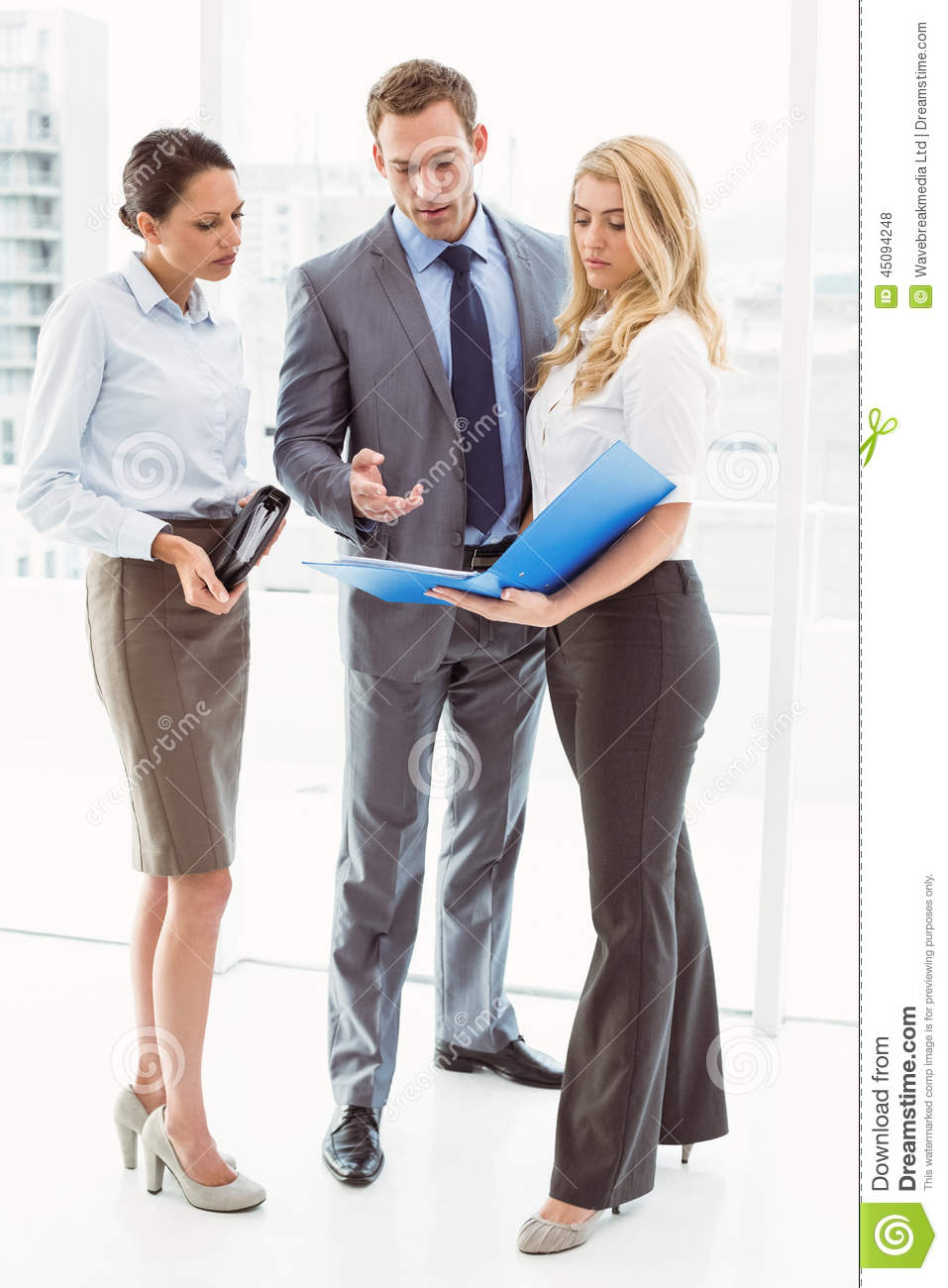 Colleagues In Meeting At Office Stock Photo - Image of ...