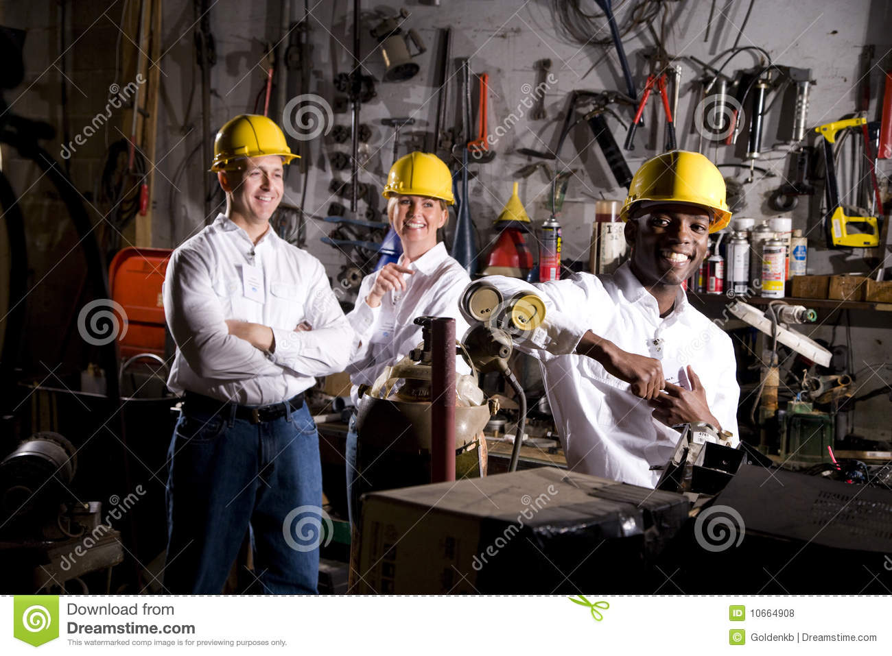 Colleagues In Office Maintenance Area Royalty Free Stock Photos ...