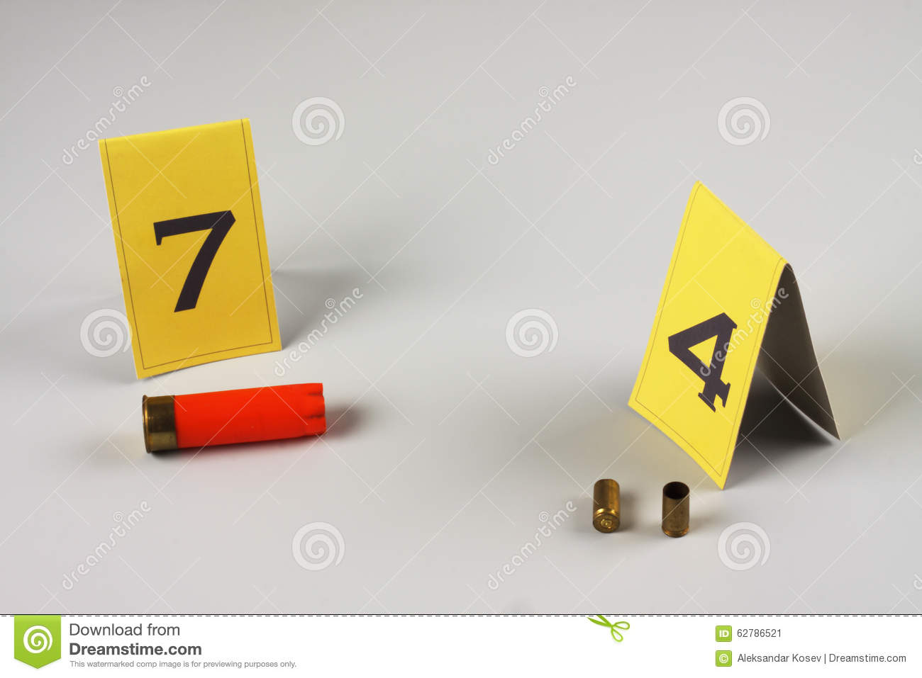 Collect Evidence Stock Image Of Marker Officer 62786521 Shotgun Shell Diagram Marked As On Grey