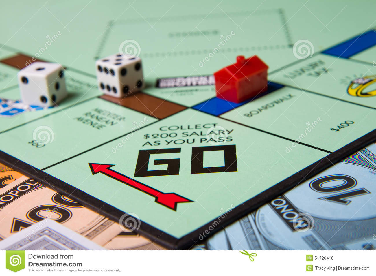 CALDWELL, IDAHO/USA - MARCH 16, 2015: Collect 200 for passing go ...