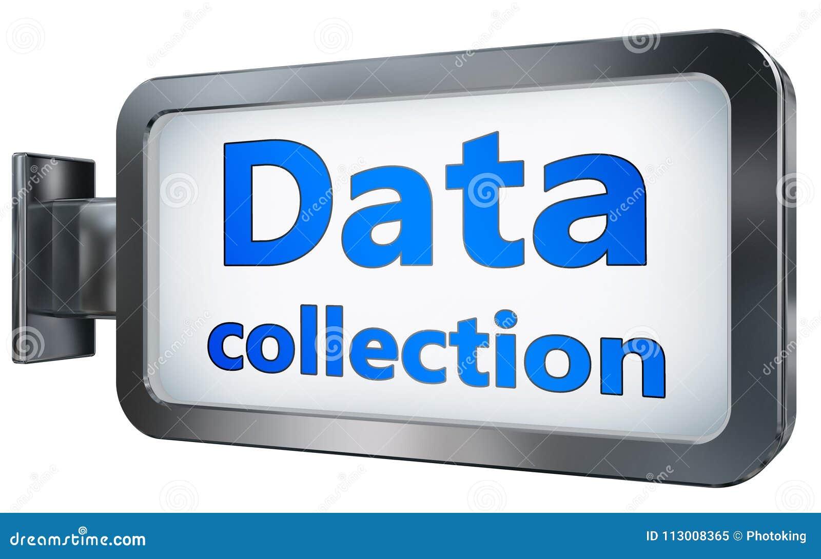 Collecte de données sur le fond de panneau d affichage