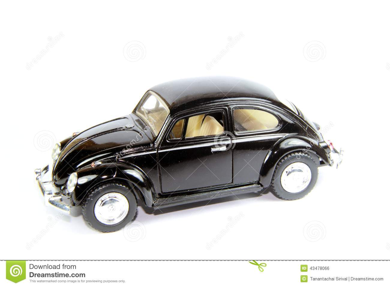 Collectible Toy Model Car Volkswagen Beetle Stock Photo