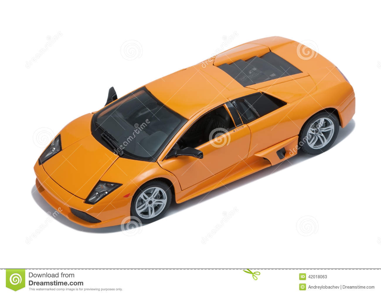 Collectible Toy Sport Car Model Top View Stock Image Image Of