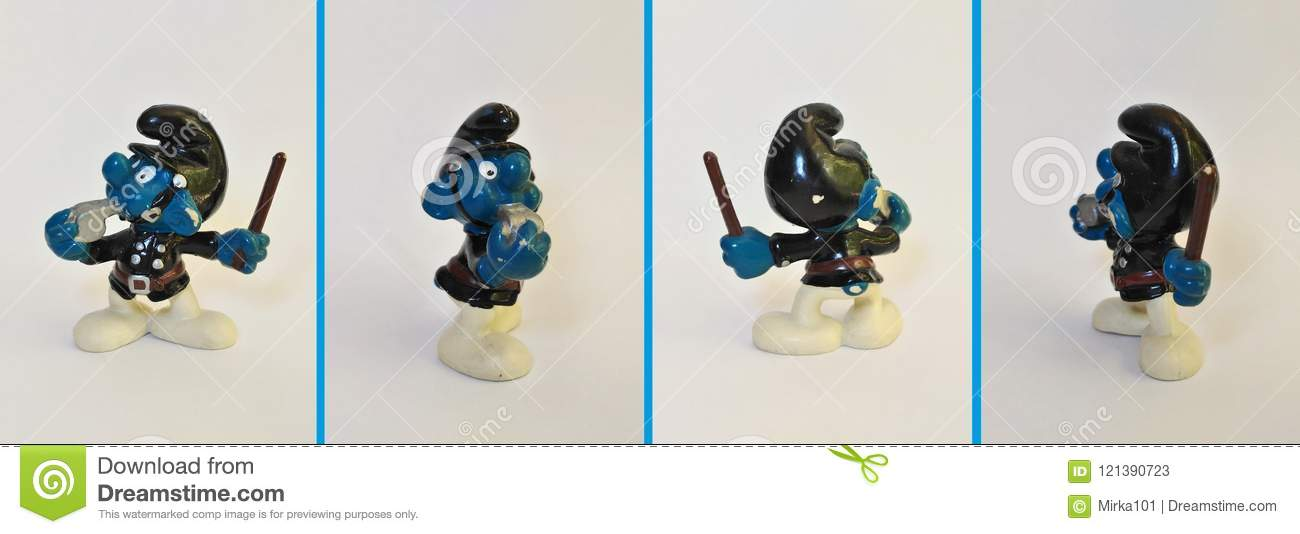 Collectible Toys Cop Smurf Editorial Stock Photo Image Of Artist