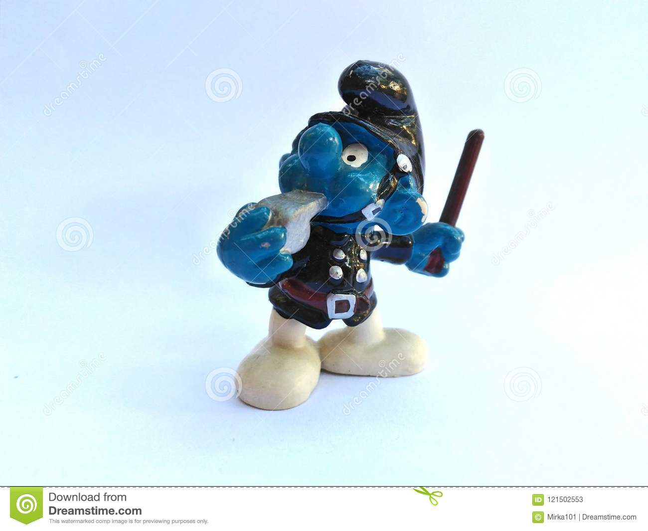 Collectible Toys Cop Smurf Editorial Stock Photo Image Of Were