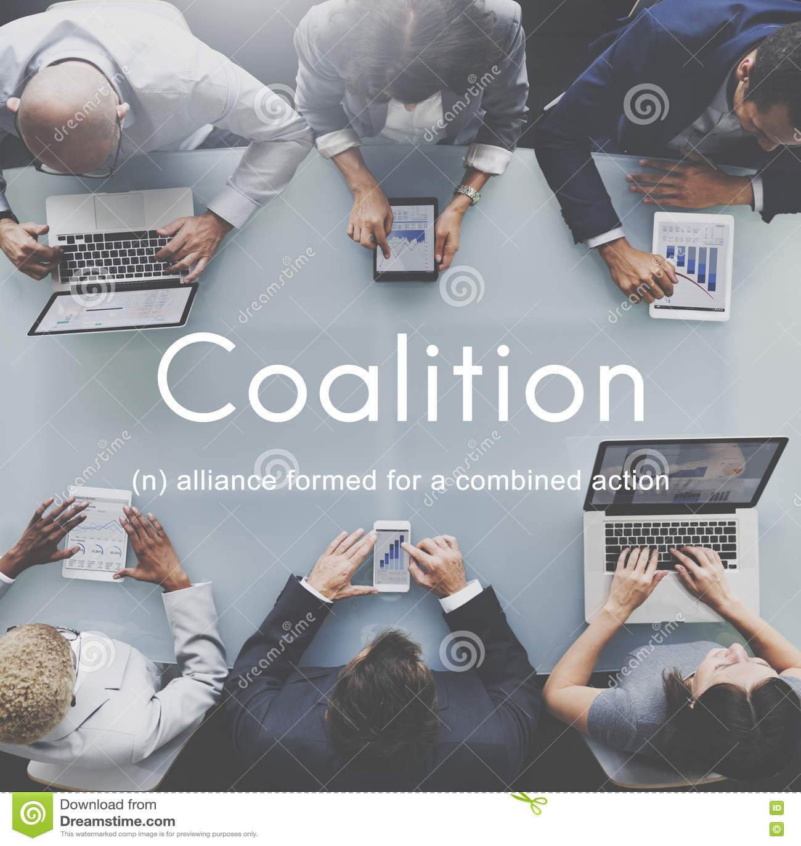 Collectief de Unie van Alliance van de coalitievereniging Concept
