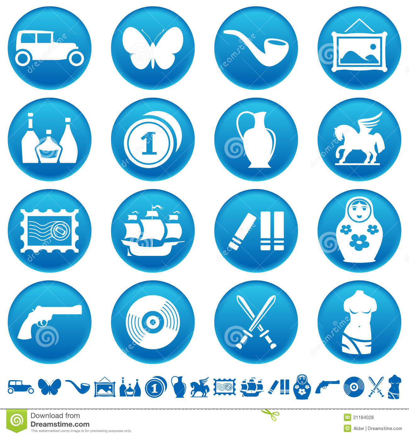Collecting And Hobby Icons Royalty Free Stock s