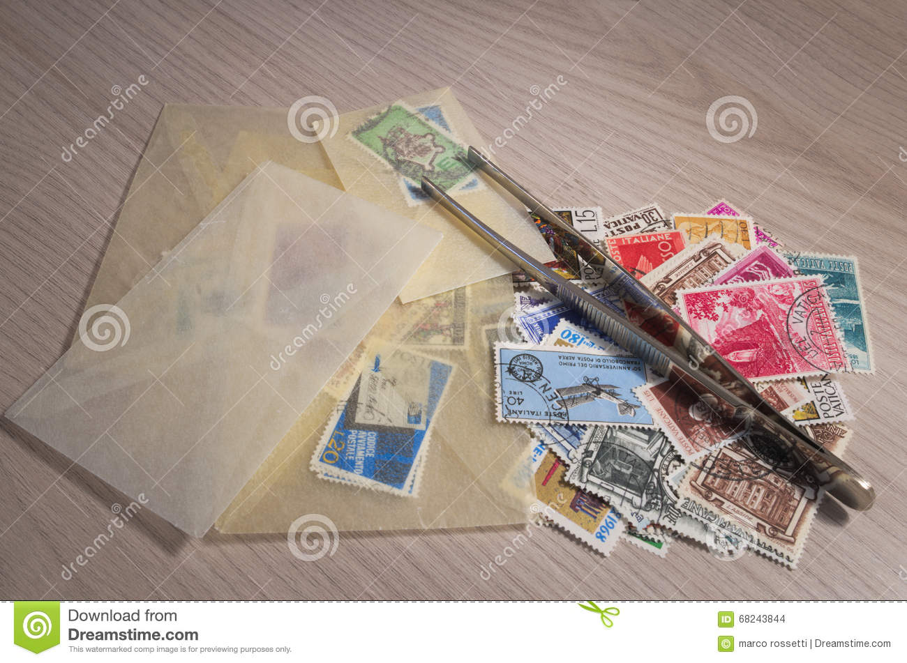 Collecting Stamps Stock Illustration Of Design