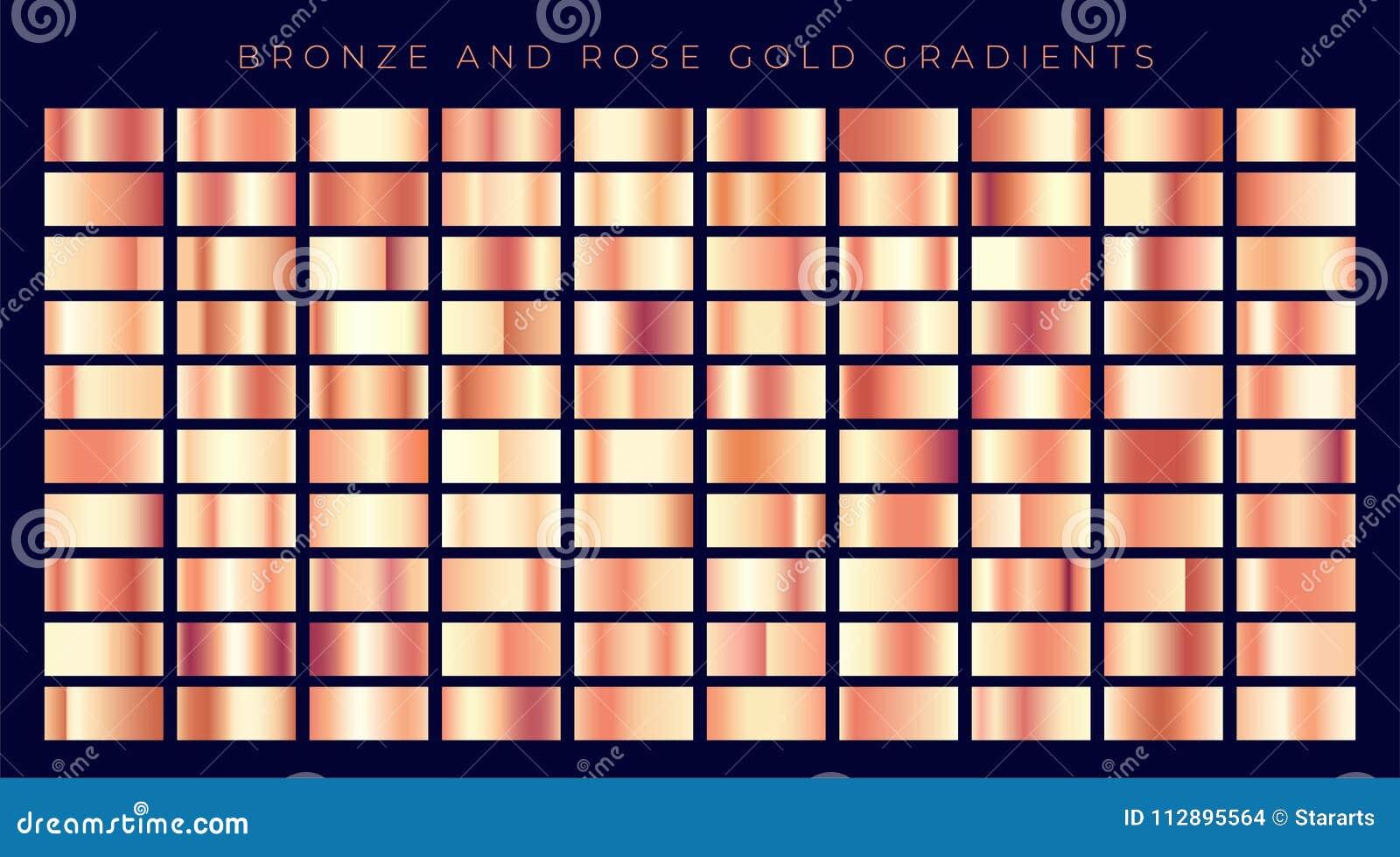 Collection énorme de gradients roses d or ou d en cuivre