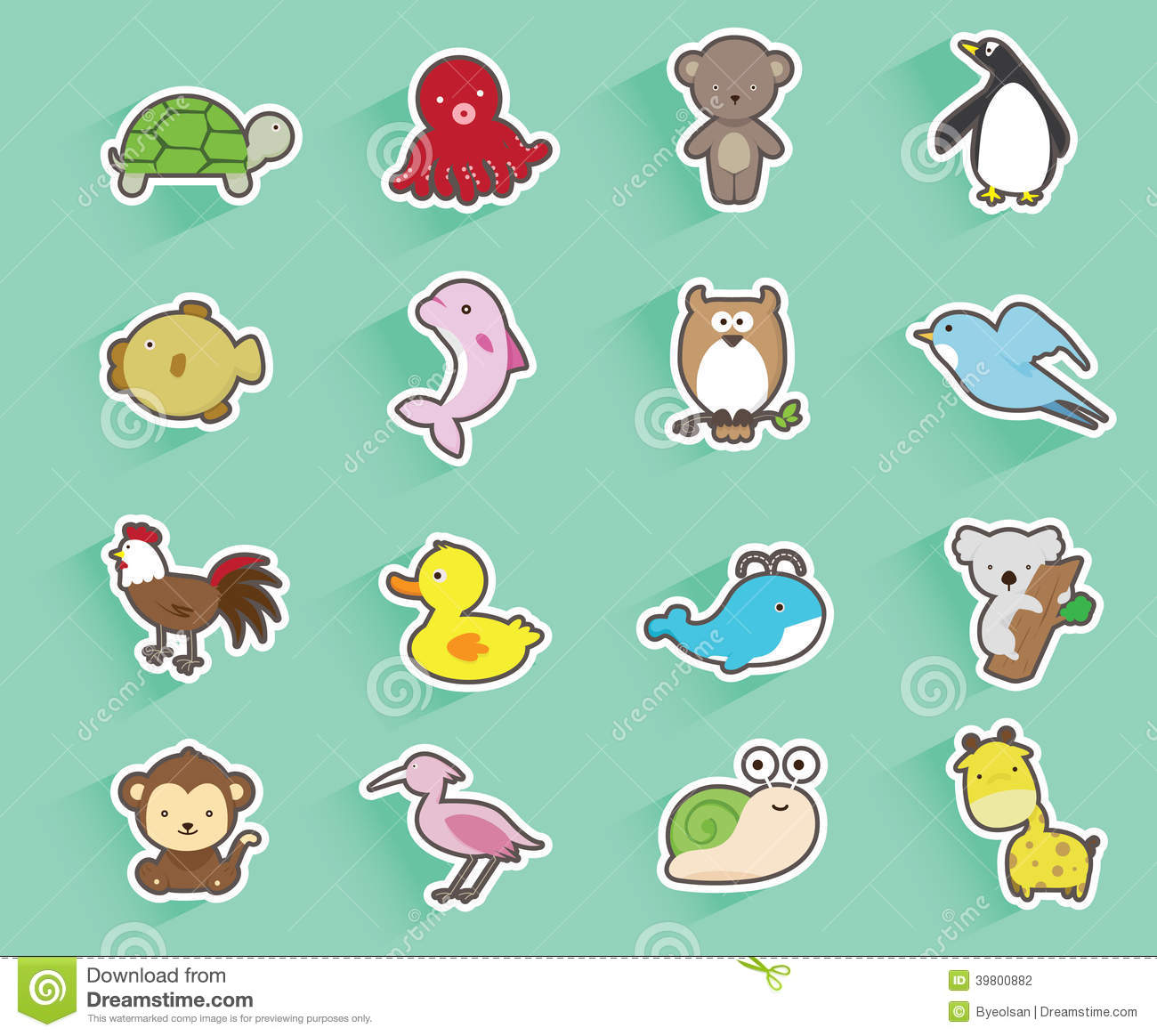 Collection Of Animals Stock Vector - Image: 39800882