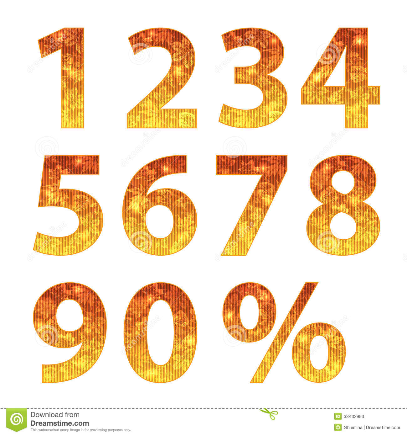 Collection of autumn numbers stock vector image 33433953 for Blueprint number