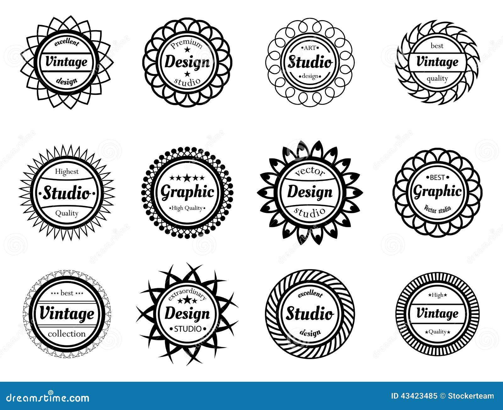 Stock Illustration Collection Award Stamp Design Adn Graphic Studios Image43423485