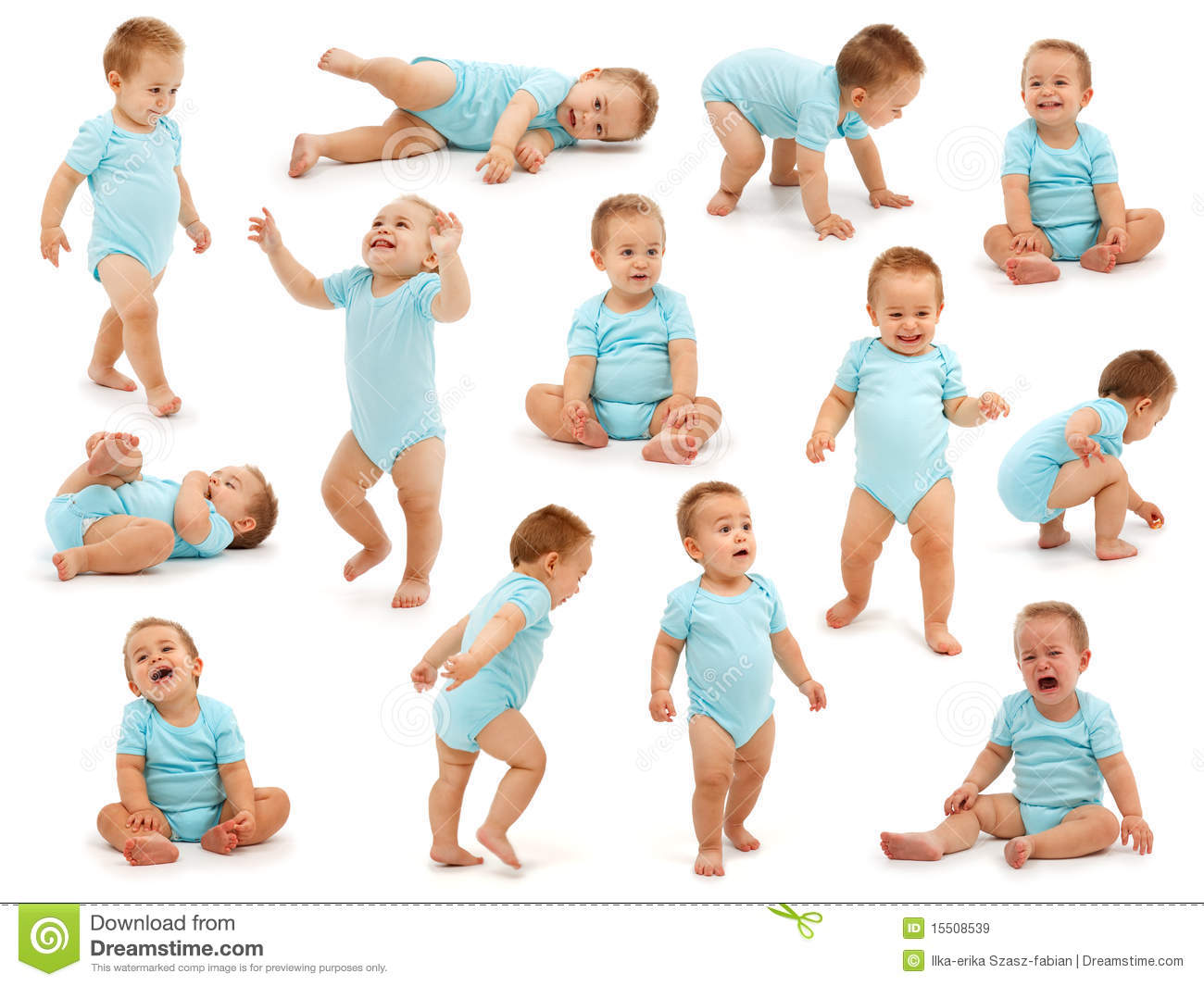 Collection of a baby boy s behavior