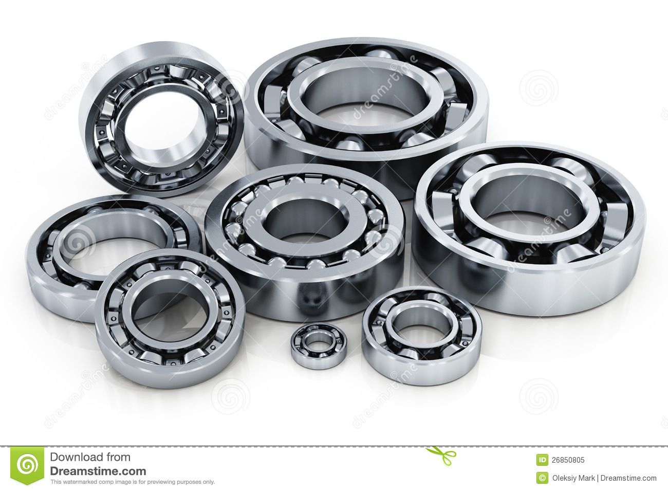 collection of ball bearings royalty free stock photo image 26850805. Black Bedroom Furniture Sets. Home Design Ideas