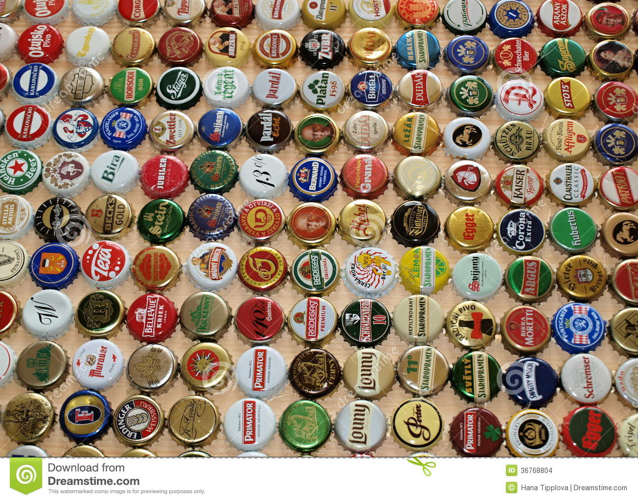 A collection of beer caps