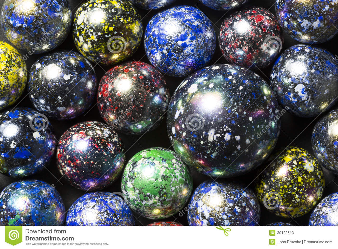 Speckled Marbles Stock Photos Image 30138613