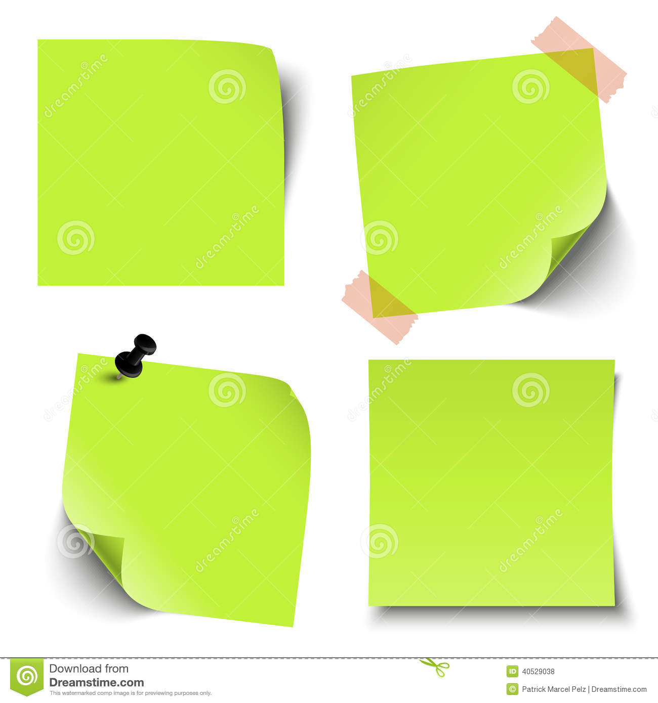 Free vector graphic sticky note note info paper free image on - Collection Of Blank Colored Sticky Notes Royalty Free Stock Photos
