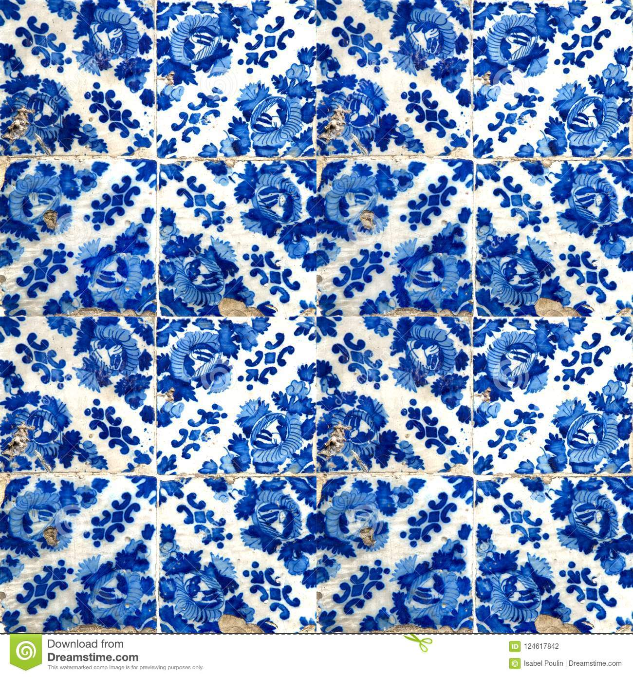 Collection Of Blue Patterns Tiles Stock Photo - Image of exterior ...