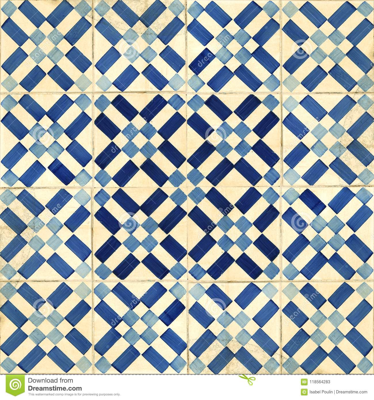 Collection Of Blue Patterns Tiles Stock Image - Image of mosaic ...