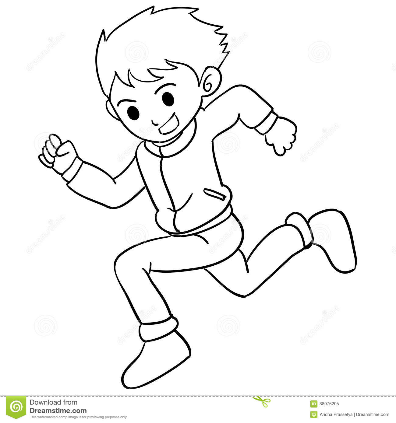 Collection Of Boy Running Character Stock Vector ...